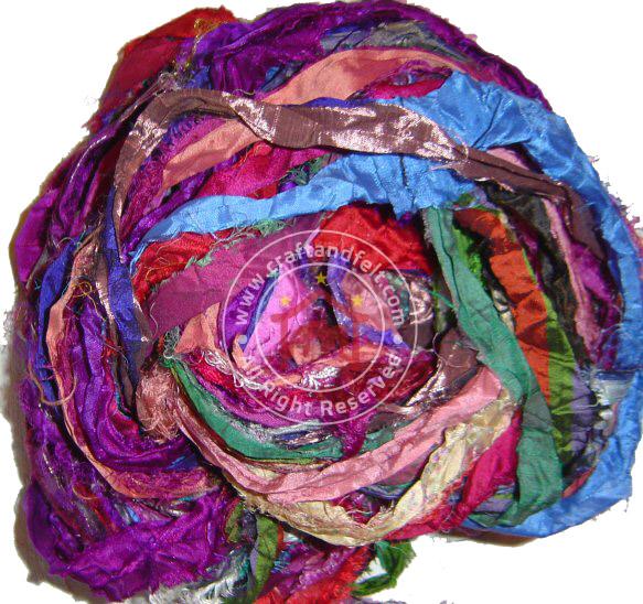Nepal Craft & Felt | Recycled Silk Yarn - Sari Silk fibers